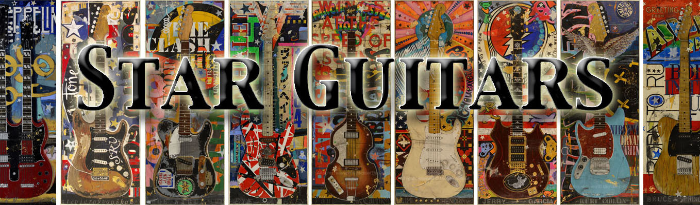 Original Guitar Paintings of Famous Guitars by Artist Michael Babyak