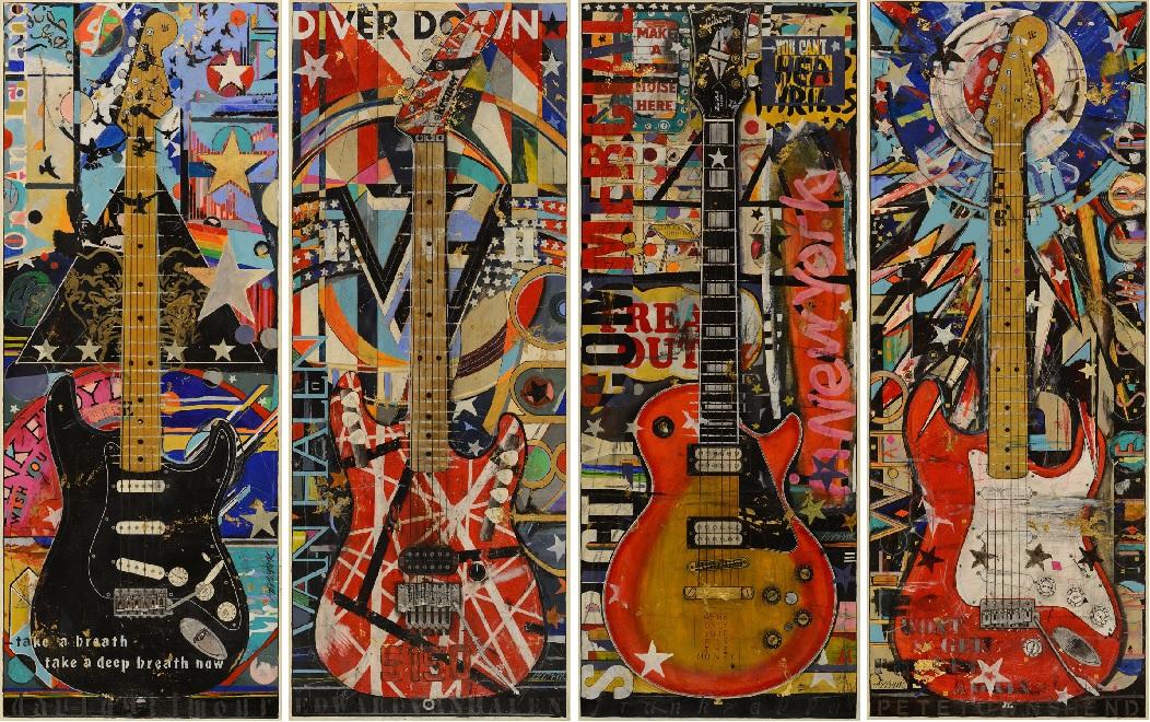 Original Star Guitar Paintings