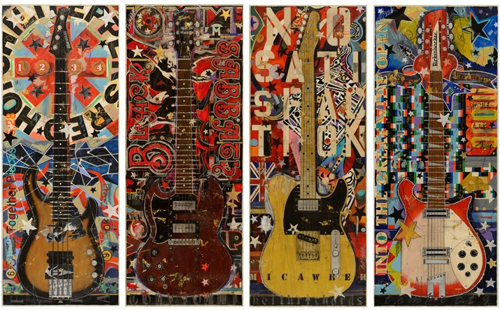 Paintings of Famous Guitars by Michael Babyak